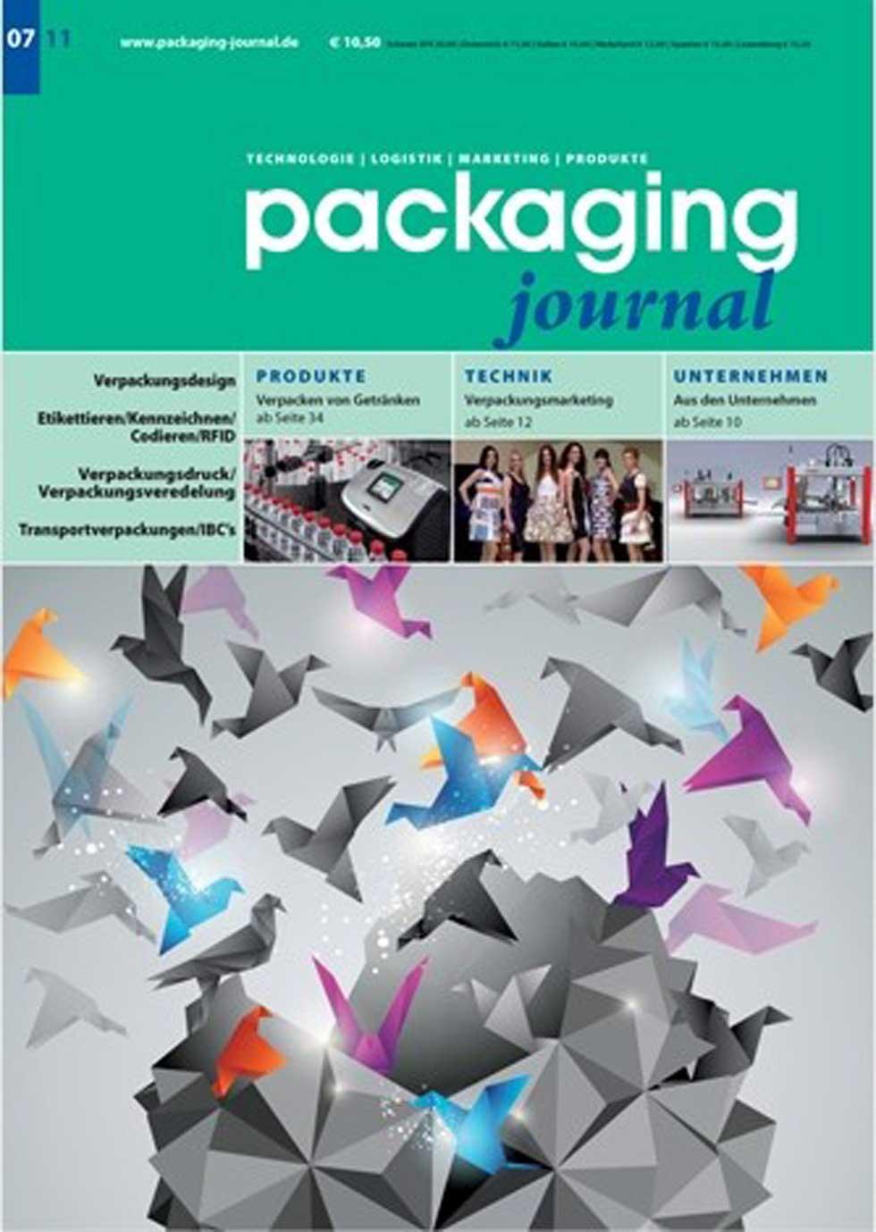 Cover des Packaging Journals in Vorbereitung auf die BrauBeviale 2011