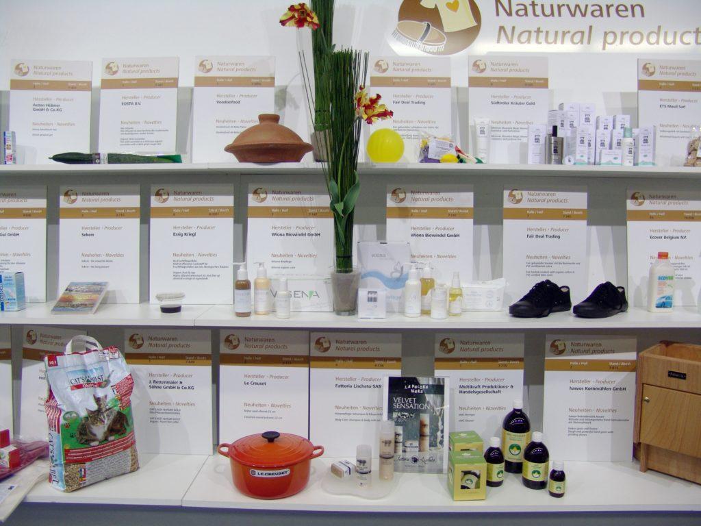 Nahaufnahme der Sachetbeutel auf der Biofach 2008