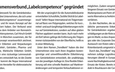 EUWID Verpackung berichtet über labelcompetence Netzwerk