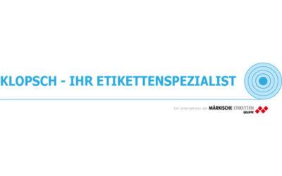 KLOPSCH – Ihr Etikettenspezialist erfolgreich in die ME Gruppe eingebunden