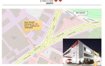 Neue Anschrift für das Stadtbüro Berlin