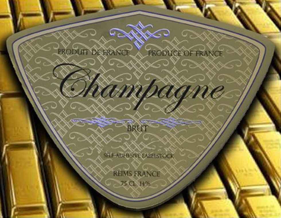 Goldenes selbstklebendes Etikettenmaterial