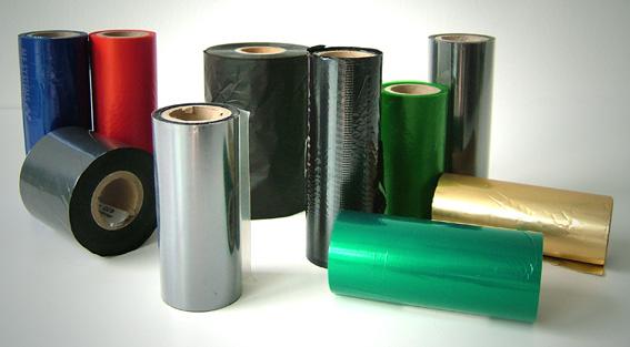 Thermotransferband in verschiedenen Farben