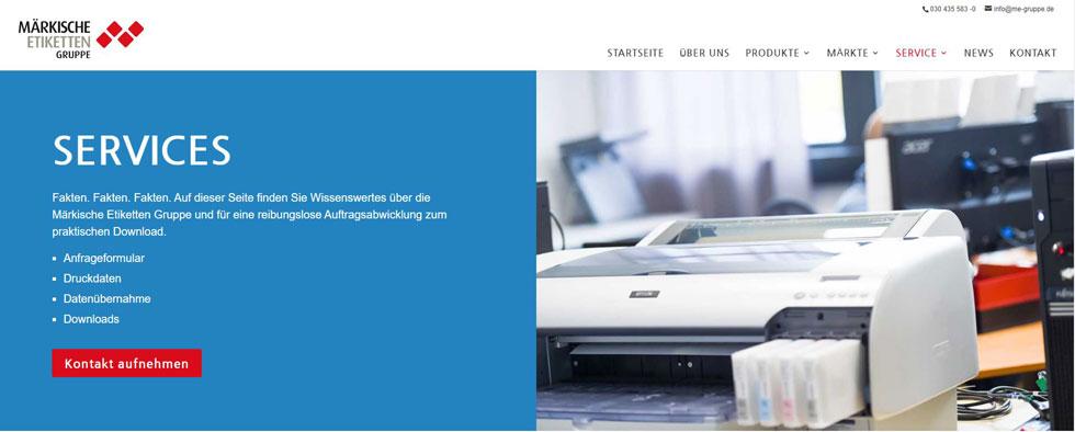 Teaser für das Design der neuen Website